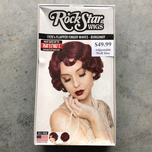 Rockstar Wigs! 1920's Flapper Burgundy! New!